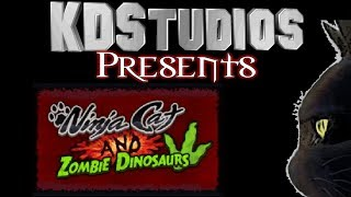 Ninja Cat and Zombie Dinosaurs - Gameplay - Learn to type faster!