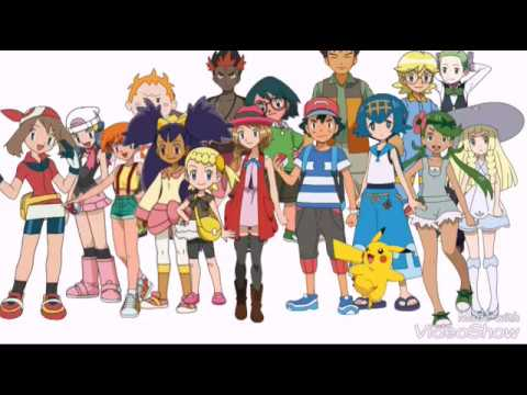 Ash all traveling friends - YouTube