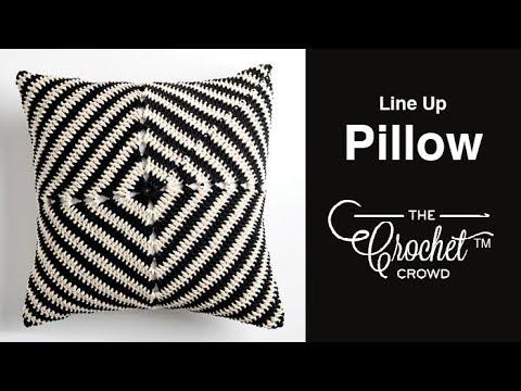 Crochet Line Up Pillow