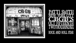 Patti Smith - So You Wanna Be a Rock and Roll Star (CBGB