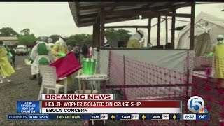 Health worker quarantined on cruise ship