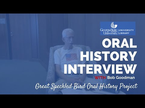 Bob Goodman oral history interview, 2016-07-25