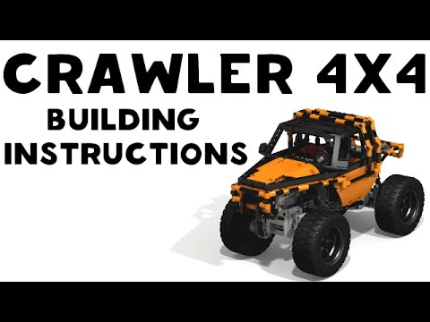 Lego Technic Crawler 4x4 Building Instruction Youtube