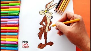 Cómo dibujar al COYOTE del Correcaminos | How to draw Wile E. Coyote (Road Runner & Coyote)