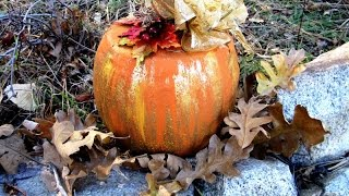 Recycled Candy Pail Pumpkin ~ Featuring Miriam Joy