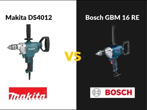 Taladro sin percusión Bosch GBM 1600 RE (850W) vs Makita DS4012 (750W)
