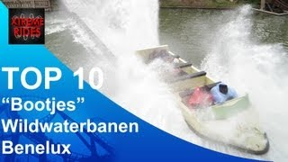 "TOP 10 ""Bootjes"" Wildwaterbanen Benelux \ TOP 10 Log Flumes Benelux"