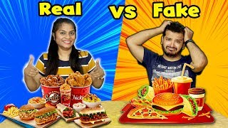 Real Vs Fake Junk Food Challenge | Junk Food Real Vs Fake Competition | Food Competition