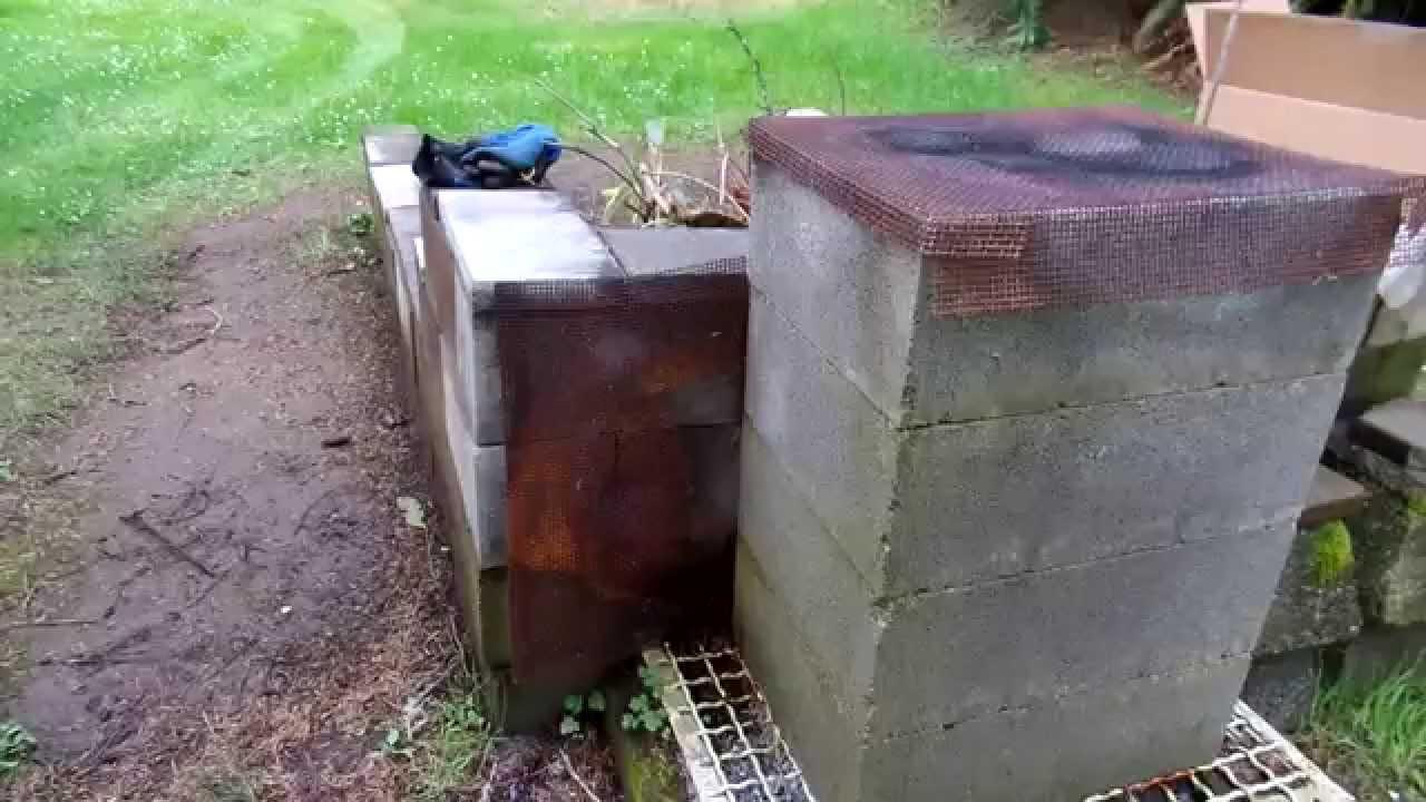 Using chimney blocks to burn trash. - YouTube