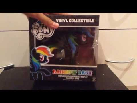 My Little Pony Rainbow Dash Vinyl Collectible Funko Figure Black Variant Opening And Review
