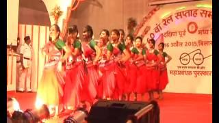 Railway School Girls Performing Beautiful Chhattisgarhi Folk Dance on Railway Week Celebration