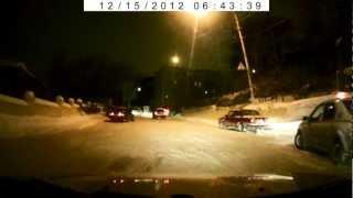 Ростовский Богатяновский подъём 14.12.2012 (Goodyear UltraGrip Ice +)(покрышки: Goodyear UltraGrip Ice + автомобиль:Hyundai Accent видеорегистратор:DVR-866., 2012-12-15T18:41:52.000Z)