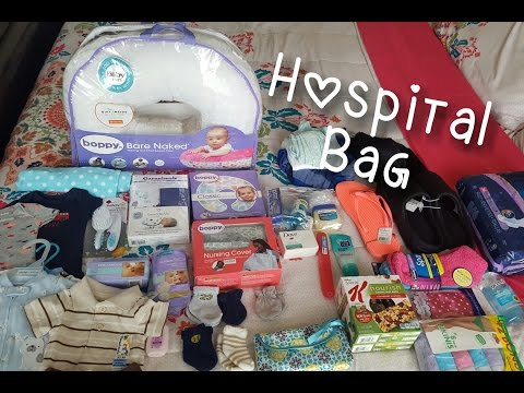 Hospital Bag, Baby #2, C-section, Breastfeeding