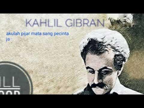 Kahlil Gibran (akulah cinta/puisi/kumpulan puisi)