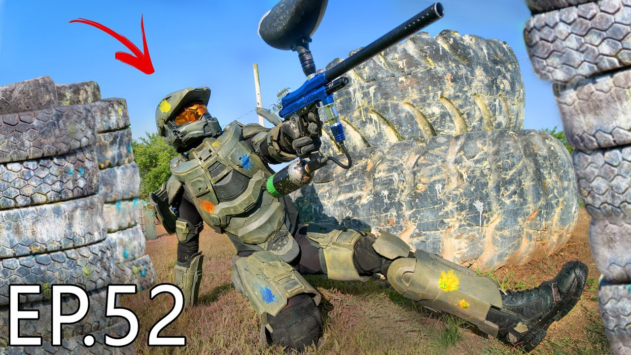 Master Chief Plays PAINTBALL   Living With Chief Ep.52