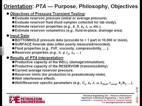 Petroleum Engineering; Reservoir performance Introduction