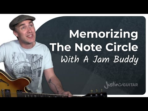 The Note Circle With Jam Buddy • Practical Music Theory • Grade 1 • JustinGuitar • MT-101