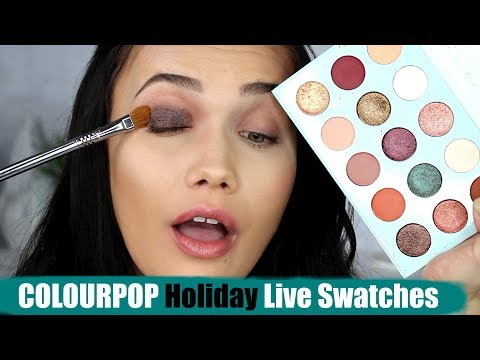 COLOURPOP Holiday Collection LIVE SWATCHES