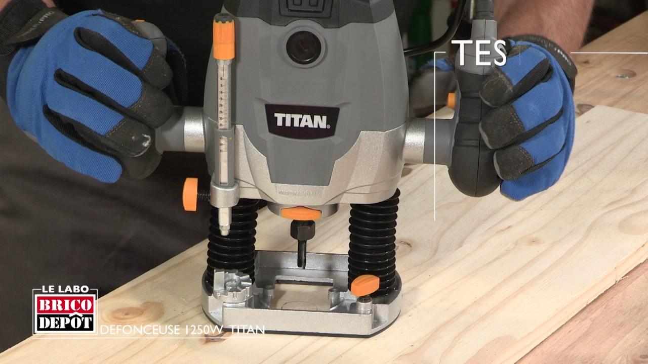 labo brico test d fonceuse titan 1250 w youtube. Black Bedroom Furniture Sets. Home Design Ideas
