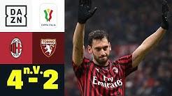 Doppelter Calhanoglu! Milan siegt bei Kobe-Abschied: Milan - FC Turin 4:2 n.V. | Coppa Italia | DAZN