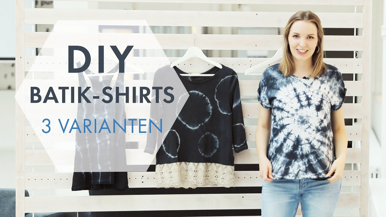 diy batik shirts 3 coole batik techniken zum selbermachen stylight youtube. Black Bedroom Furniture Sets. Home Design Ideas