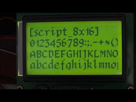 RRE Font Library For Arduino Displays