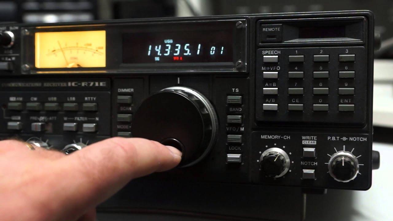 Icom IC r71e HF receiver on Ebay UK