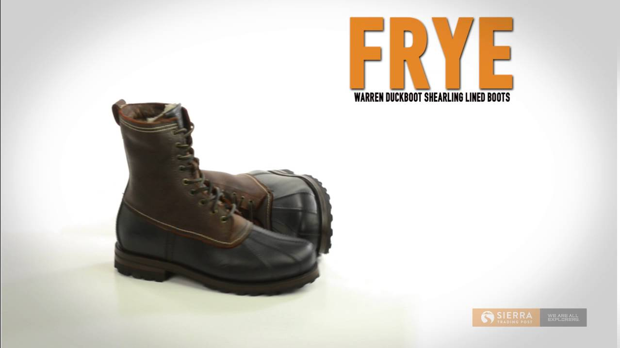 Frye Warren Duck Boots Leather Shearling Lined For Men