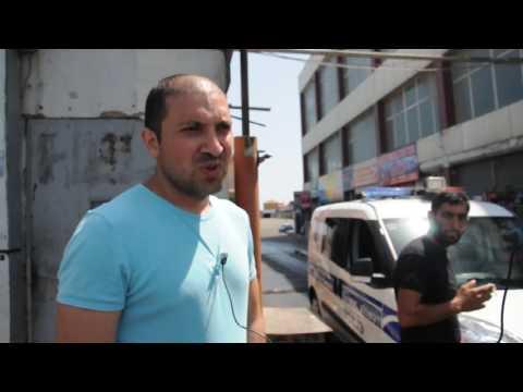 Yanan maşın bazarından reportaj