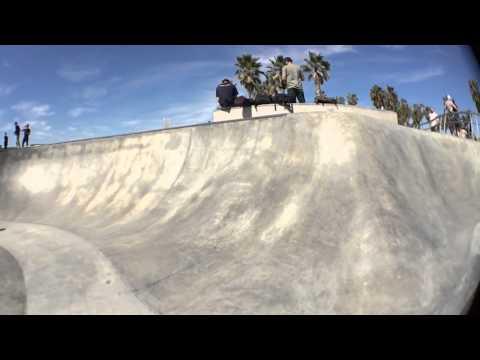 Steven Martinez skateboarding Venice beach
