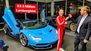 SPOILED 16 YR OLD GIRL GETS KEYS TO LAMBORGHINI CENTENARIO!!