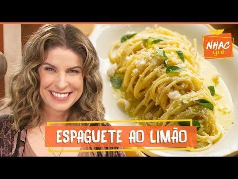 Macarrão com molho de limão e queijo parmesão  Rita Lobo  Cozinha Prática