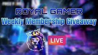 it's Show Time Weekly Membership Giveway||Royal Gamer||
