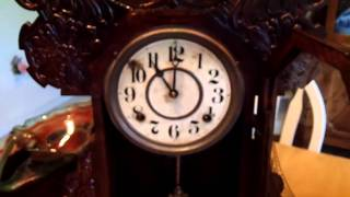 Antique Gingerbread Kitchen Mantel Clock By The E. Ingraham Co. On Ebay Auction # 2