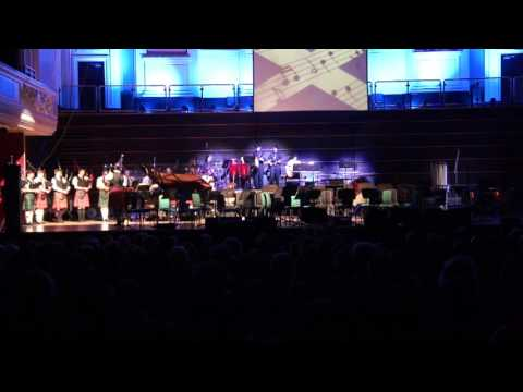 "Dundee Schools Spring Concerts 2016 - Pipe Band & Rock Band performing ""Local Hero"""