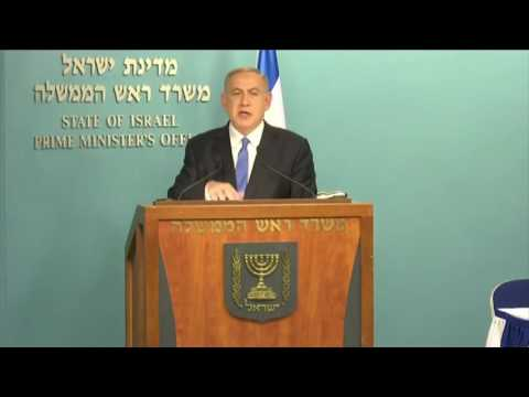 Israeli PM Benjamin Netanyahu Responds to John Kerry's Remarks on Middle East Peace