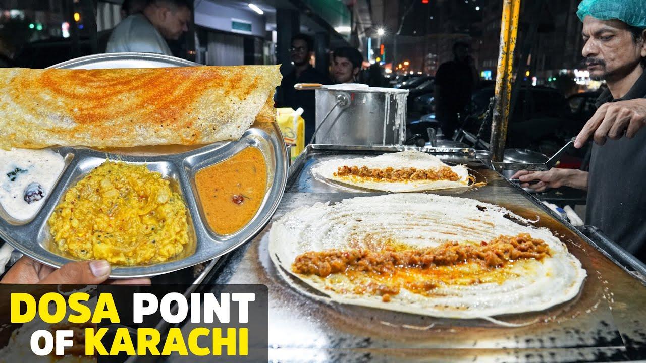 Most Famous Dosa of Karachi   Masala, Chicken & Qeema Dosa   Dosa Point, Bahadurabad Street Food PK