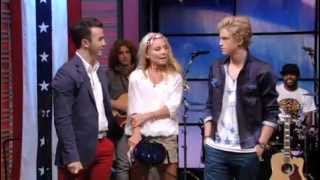 Kevin Jonas co-hosting Live! with Kelly. Part 4. Cody Simpson's performance.