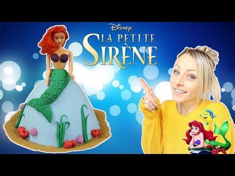 ♡•-gÂteau-princesse-ariel-|-recette-cake-design-•♡