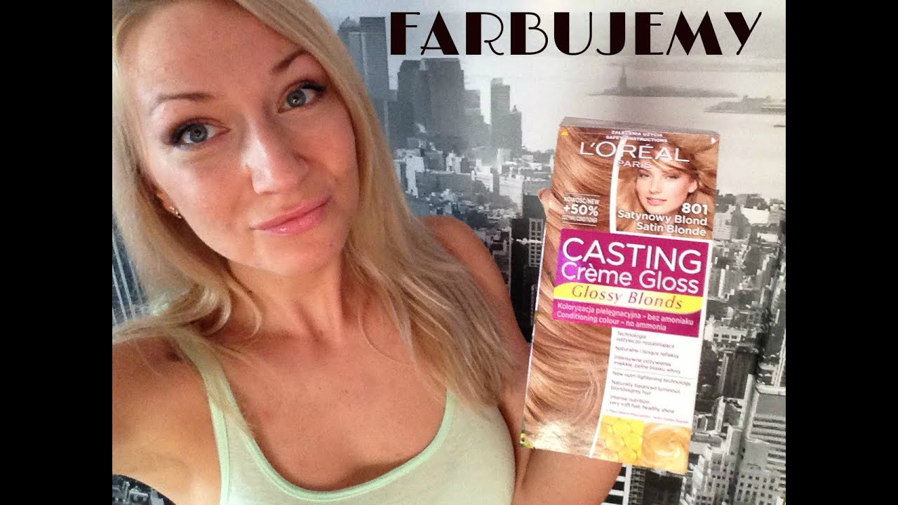 casting 801 loreal farbujemy na ywo youtube - Coloration L Oreal Blond