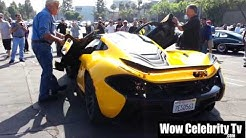 Jay Leno Arrives To Super Car Sunday in 1.5 Million Dollar McClaren P1