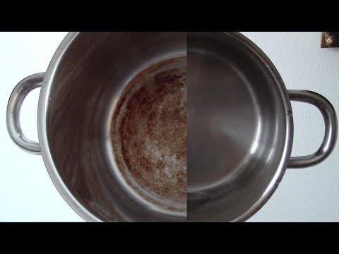 Как отмыть кастрюлю-нержавейку от нагара лимонной кислотой за 30 секунд