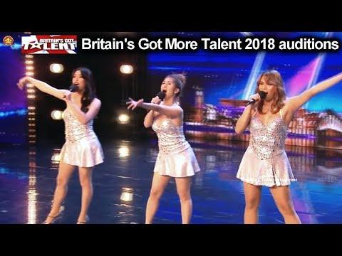 "Miss Tres  Filipino Singing Group ""Sexbomb"" FANTASTIC Auditions Britain's Got Talent 2018 BGT S12E05"