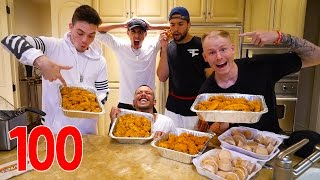 100 CHICKEN FINGER CHALLENGE (GONE WRONG)