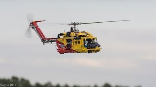 LEGO Technic Helicopter LT 9396 real flight rescue use