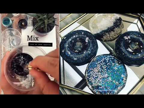 How to: Create Sparkly Glitter Coasters with Epoxy Resin