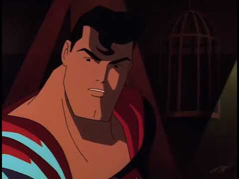 Superman meets Batman for the first time