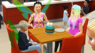Birthday Party Age Up  ! Fairy Family SIMS 4 Game Let's Play  Video Part 38