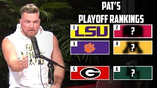 Pat McAfee's CFB Playoff Rankings