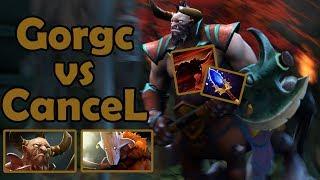 Gorgc Centaur vs CanceL Juggernaut Back and Forth Game